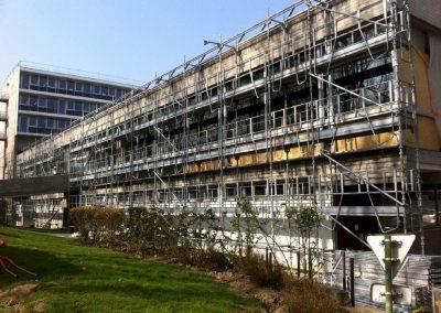 échafaudage de façade – Préfecture de l'Essonne